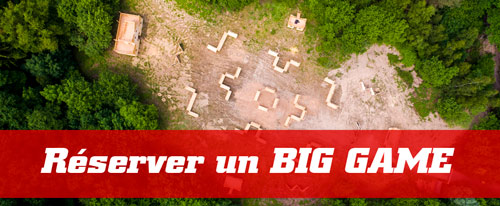 Réservation Big game paintball et lasergame